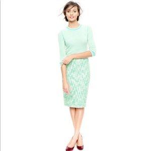 J. Crew No. 2 Pencil Skirt in Clover Tweed Size 6